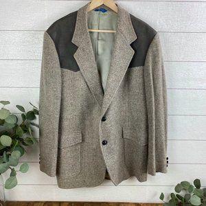 Pendleton Mens sz 44 Western Blazer 2 button Gray